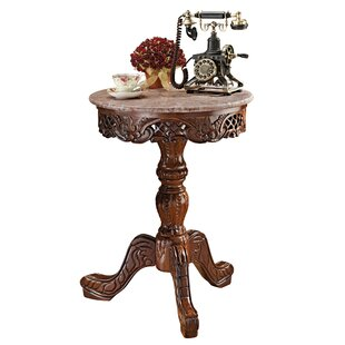 Chantret Marble Topped Pedestal End Table (Set Of 2) by Design Toscano