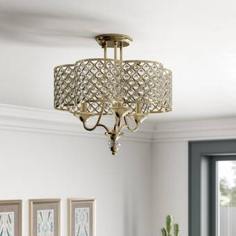 Astoria Grand Oakgrove 4 Light 16 Chandelier Style Urn Semi Flush Mount Wayfair