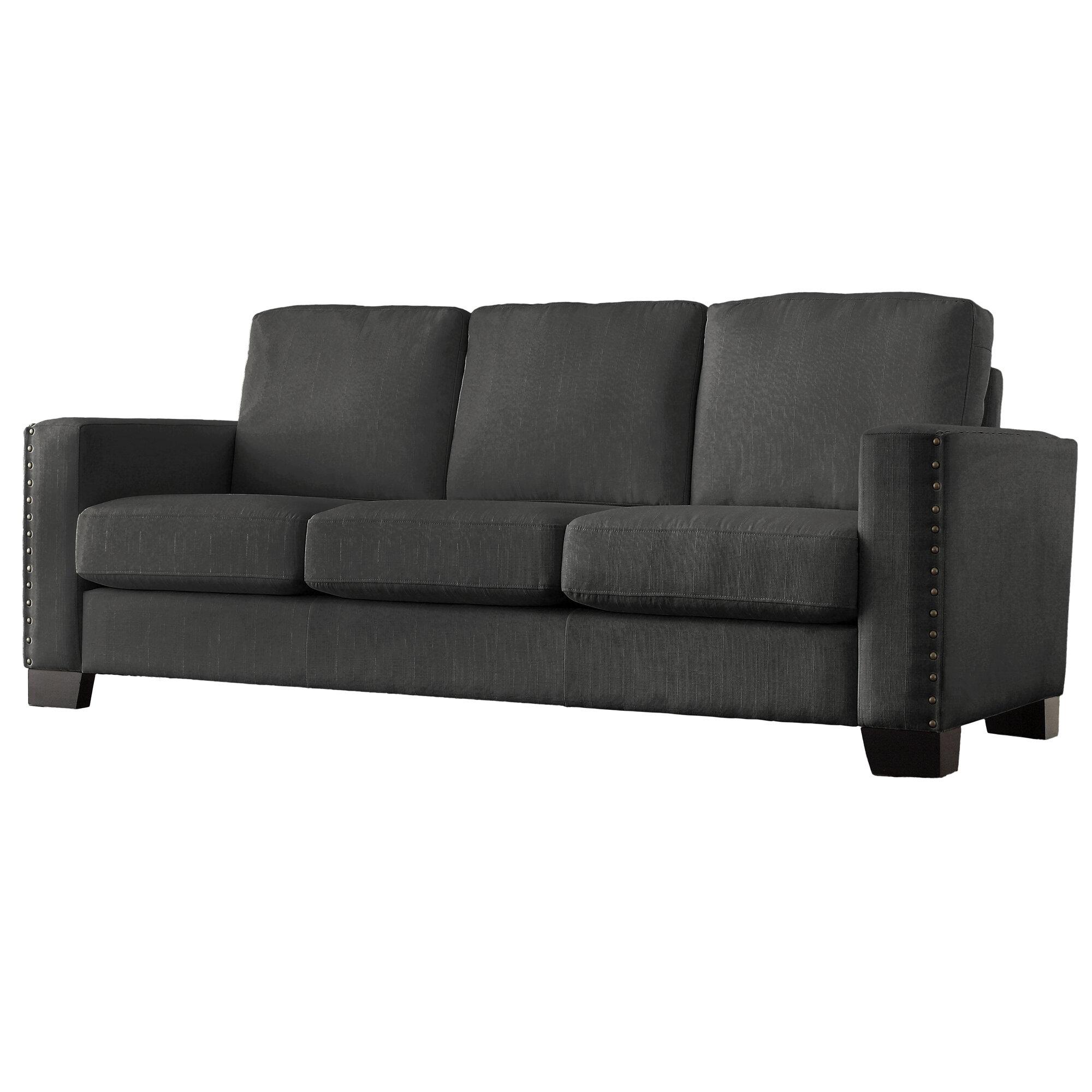 mercury row blackston nailhead trim sofa reviews wayfair - Nailhead Trim Sofa