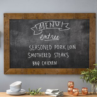 Rustic Light Wall Mounted Chalkboard