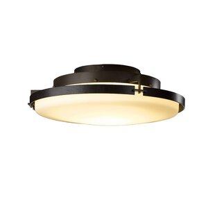 Metra 1-Light LED Semi Flush Mount by Hubbardton Forge