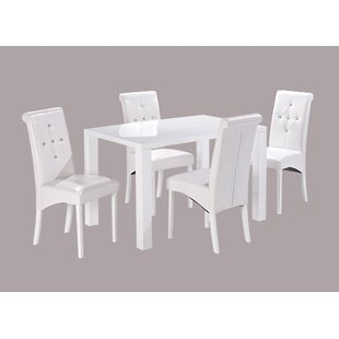 Barrar Dining Table With 4 Chairs By Metro Lane
