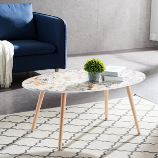 George Oliver Glasper Faux Geode Coffee Table