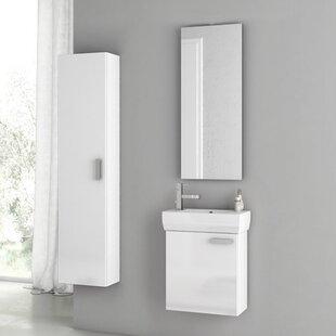 Cubical 20 Single Bathroom Vanity Set with Mirror by ACF Bathroom Vanities
