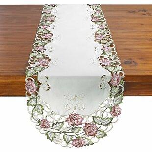Brenden Decorative Rose Table Runner