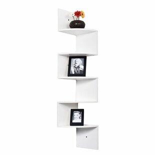 Welland LLC Large 5 Tiers Corner Wall Shelf