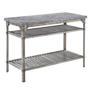 Urban Style Prep Table with Concrete Top ..
