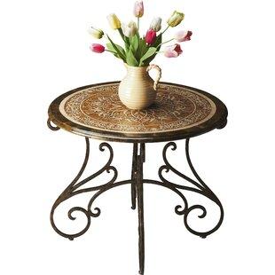 Fleur De Lis Living Chrystal End Table