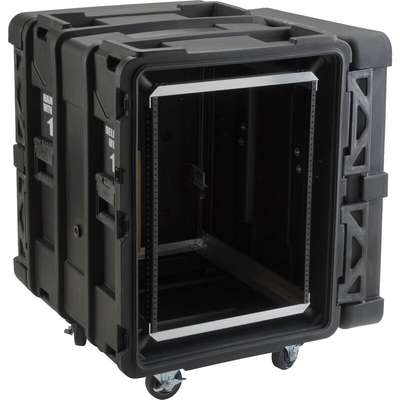 "24"" Deep 14U Roto Shock Rack in Black"