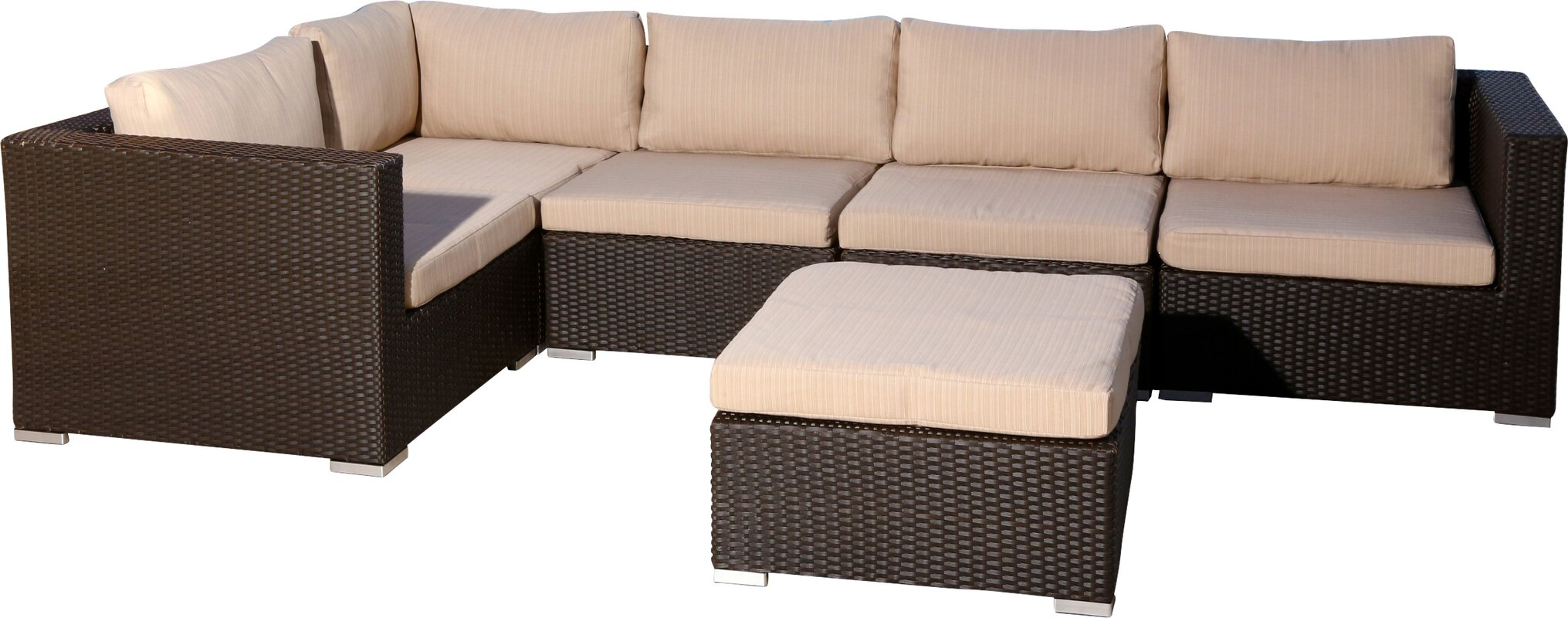 Martinez 6 Piece Sectional Set with Cushions