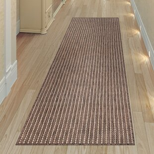 Desantiago Texture Stripe Mocha Indoor/Outdoor Area Rug