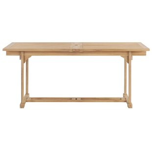 Extendable/Folding Teak Dining Table By Sol 72 Outdoor
