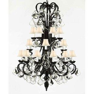 Astoria Grand Locklear 24-Light Shaded Chandelier