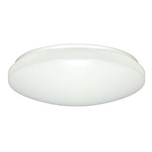 Comparison Dahlke 1-Light LED Outdoor Flush Mount By Ebern Designs