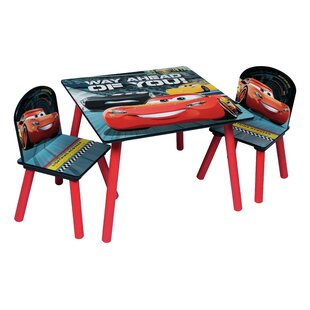 Cars 3 Wooden Children's 3 Piece Table and Chair Set by Cars