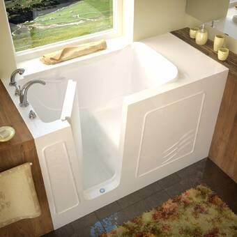 Therapeutic Tubs Aspen 60 X 32 Walk In Soaking Bathtub Wayfair