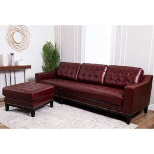Jeri Leather Reversible Sectional
