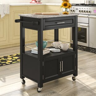 Snow Kitchen Island with Granite Top Andover Mills
