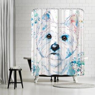 East Urban Home Allison Gray West Highland Terrier Shower Curtain