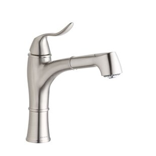 Elkay Explore One Handle Deck Mount Pull Out Kitchen Faucet