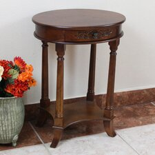 Barron Hand Carved End Table by Astoria Grand