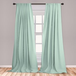 Ambesonne Green 2 Panel Curtain Set Retro Style Baby Nursery Themed Pattern With Little White Polka Dots Pastel Lightweight Window Treatment Living