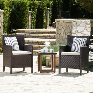 Jaimes 3 Piece Conversation Set with Cushions
