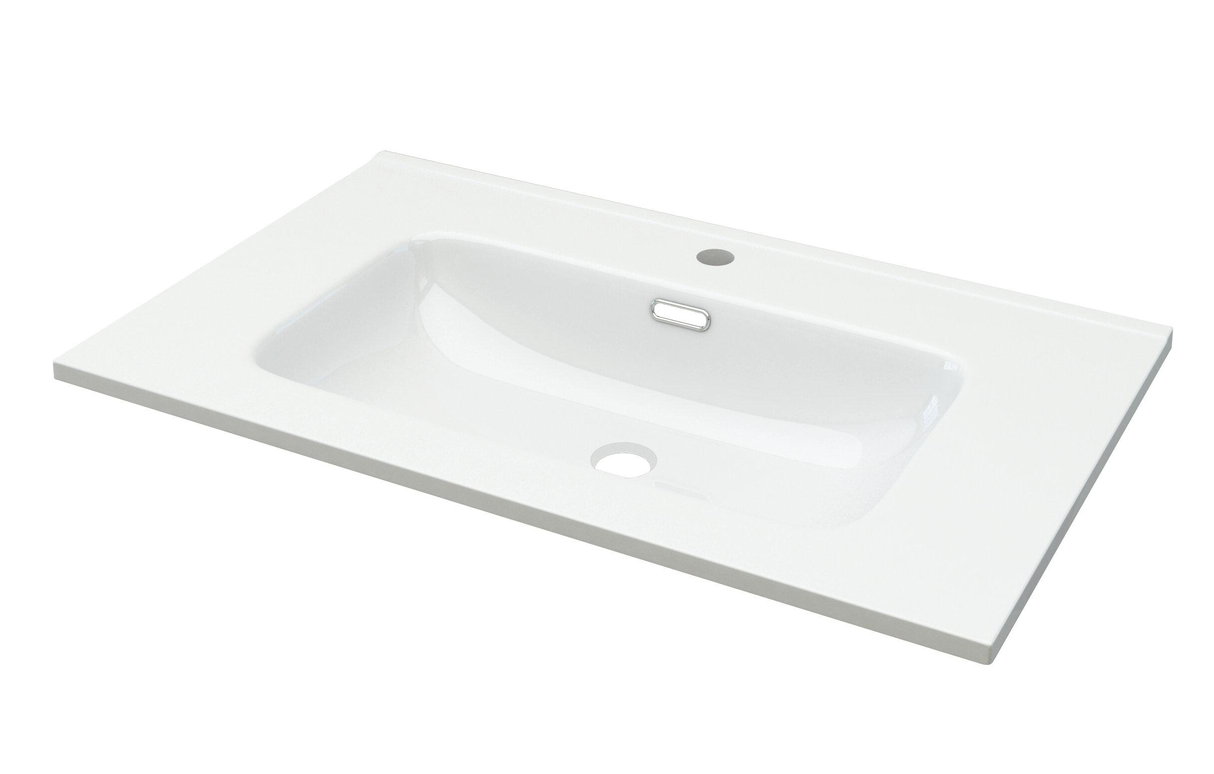 Picture of: Baden Haus Ceramic Rectangular Trough Bathroom Sink Wayfair Co Uk