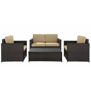 Belton 4 Piece Rattan Deep Seating Group with Cushions