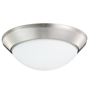 Stevens 2-Light Glass Shade Flush Mount