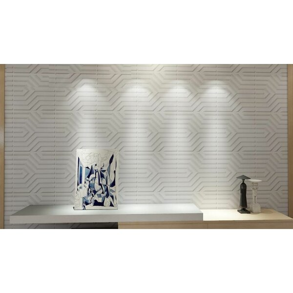 Orren Ellis Starine 19 7 W X 19 7 L Vinyl Wall Paneling In Matt White Wayfair