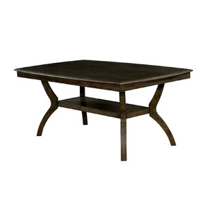 Raycliff Transitional Solid Wood Dining Table by Loon Peak
