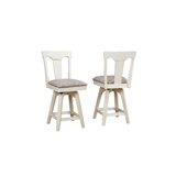 Yvonne Swivel 24 Counter Stool (Set of 2) by Gracie Oaks