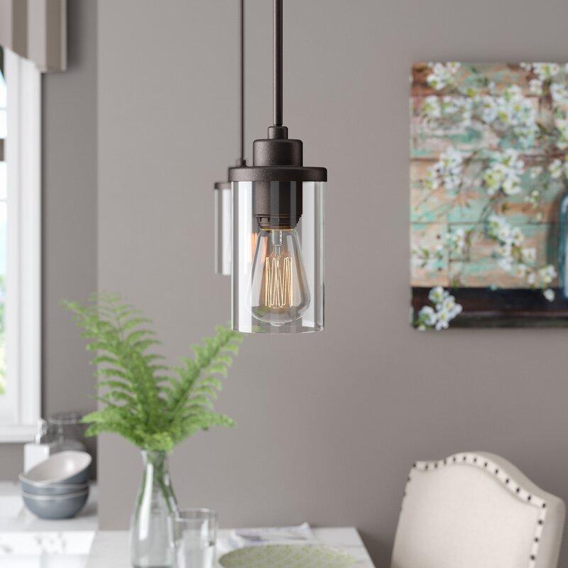 Laurel Foundry Modern Farmhouse Florine 1 Light Single Cylinder Pendant Reviews Wayfair