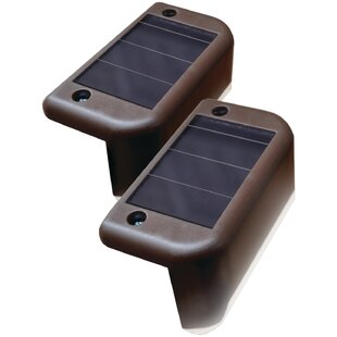 Maxsa Innovations Solar-Powered 1 LED Deck Light Set (Set of 4)