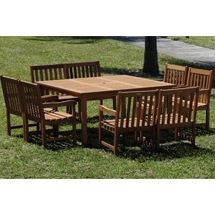 Beachcrest Home Eades 9 Piece Dining Set