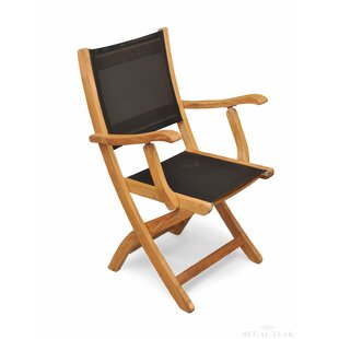 Prescott Teak Patio Dining Chair (Set Of 2) by Rosecliff Heights Read Reviews