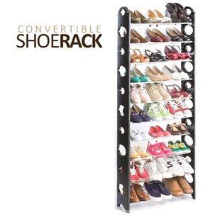 Find Convertible 10-Tier 30 Pair Shoe Rack By Vandue Corporation