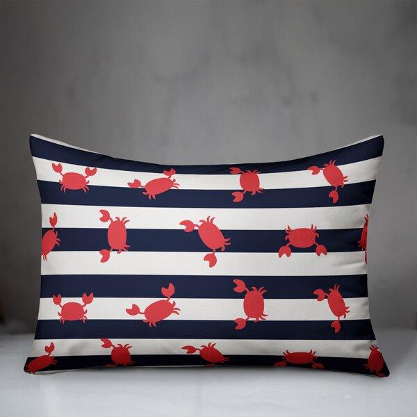 Breakwater Bay Edwin Crabby Stripes Indoor Outdoor Lumbar Pillow Wayfair