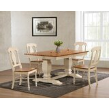 Papineau 5 - Piece Extendable Rubber Solid Wood Dining Set by Rosalind Wheeler