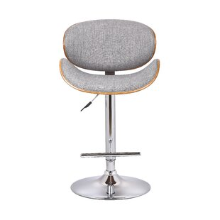 Erma Adjustable Height Swivel Bar Stool Orren Ellis