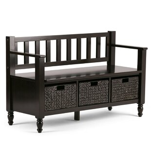 Inexpensive Adrien Entryway Wood Storage Bench BySimpli Home