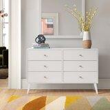 Alyssa 6 Drawer 52.25'' W Double Dresser