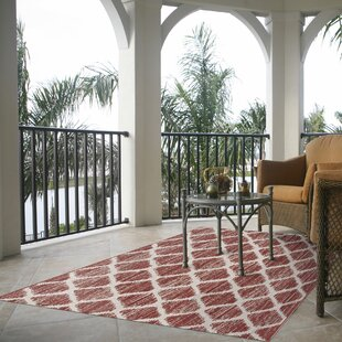 Steger Red/Ivory Indoor/Outdoor Area Rug