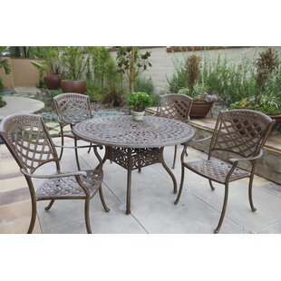 Thompson Traditional 5 Piece Dining Set with Cushions