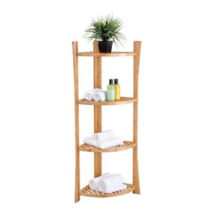 Bamboo Corner 15 W X 45 H Bathroom Shelf By Fox Hill Trading