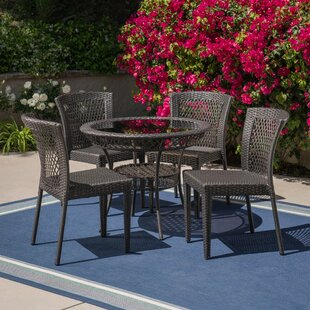 Gullette Outdoor 5 Piece Dining Set by Ch..
