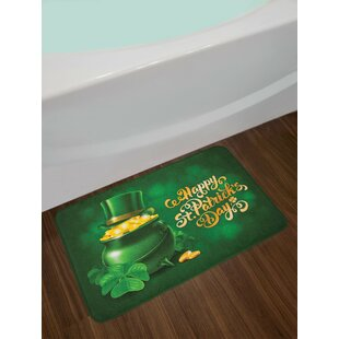 Large Gold and Emerald St. Patrick's Day Bath Rug