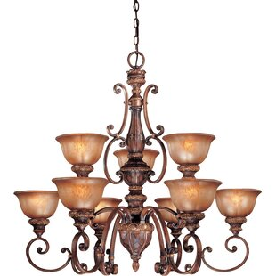 Fleur De Lis Living Dee 9-Light Shaded Chandelier
