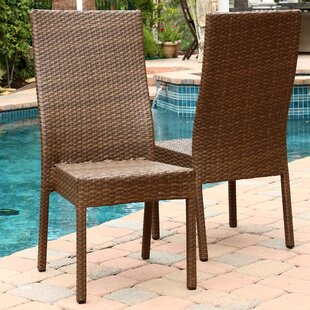 Arturo Stacking Patio Dining Chair (Set of 2) by Latitude Run